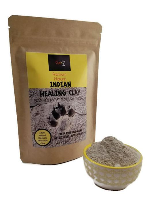 Genz Indian Secret Healing Clay | Natural 100% Calcium Bentonite Facial Genzproduct