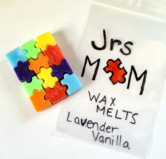 Jr's MoM - Wax Melts - Puzzle Pieces of Autism* Wax Melts GenZproduct
