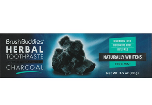 Brush Buddies Herbal Toothpaste Activated Charcoal Mint Fluoride Free