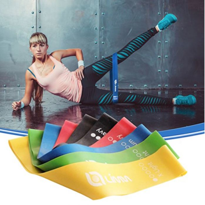 Limm Bootie Bandz 5 Piece Resistance Exercise Loops W/bonus Ebook & Carry Bag Genzproduct