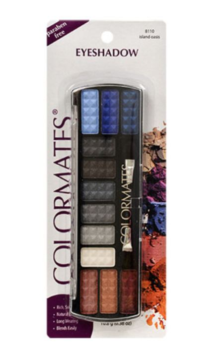 Colormates Island Oasis 12-Color Eyeshadow Palettes With Applicators Genzproduct