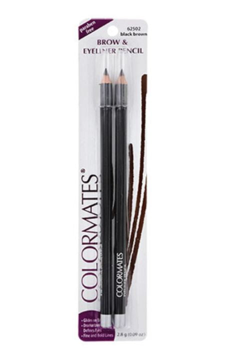 Colormates Black-Brown Brow And Eyeliner Pencils 2-Ct. Packs Genzproduct