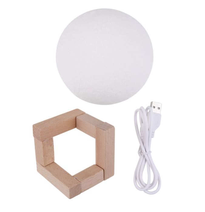 Genz 3D Magical Moon Led Desk/table/night Light Usb Rechargeable Lamp Genzproduct