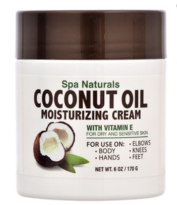 Spa Naturals Coconut Oil Moisturizing Cream 6-Oz. Tubs Creams Genzproduct