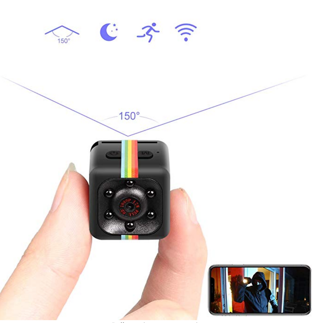 GenZ Mini Spy Hidden Camera Wireless Hidden 1080P Portable HD Cam with Night Vision