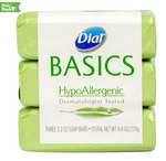 Dial Basics HypoAllergenic Soap, 3-ct. Packs