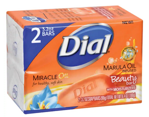 Dial Marula Infused Beauty Bar Moisturizing Soap, 2-Bar Packs