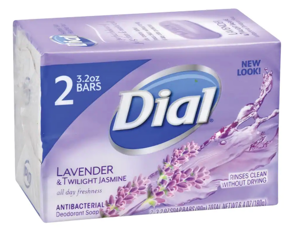 Dial Lavender & Twilight Jasmine Antibacterial Deodorant Soap, 2-Bar Packs