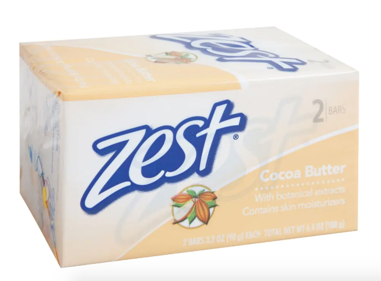 Zest Cocoa Butter Soap, 2-ct. Packs