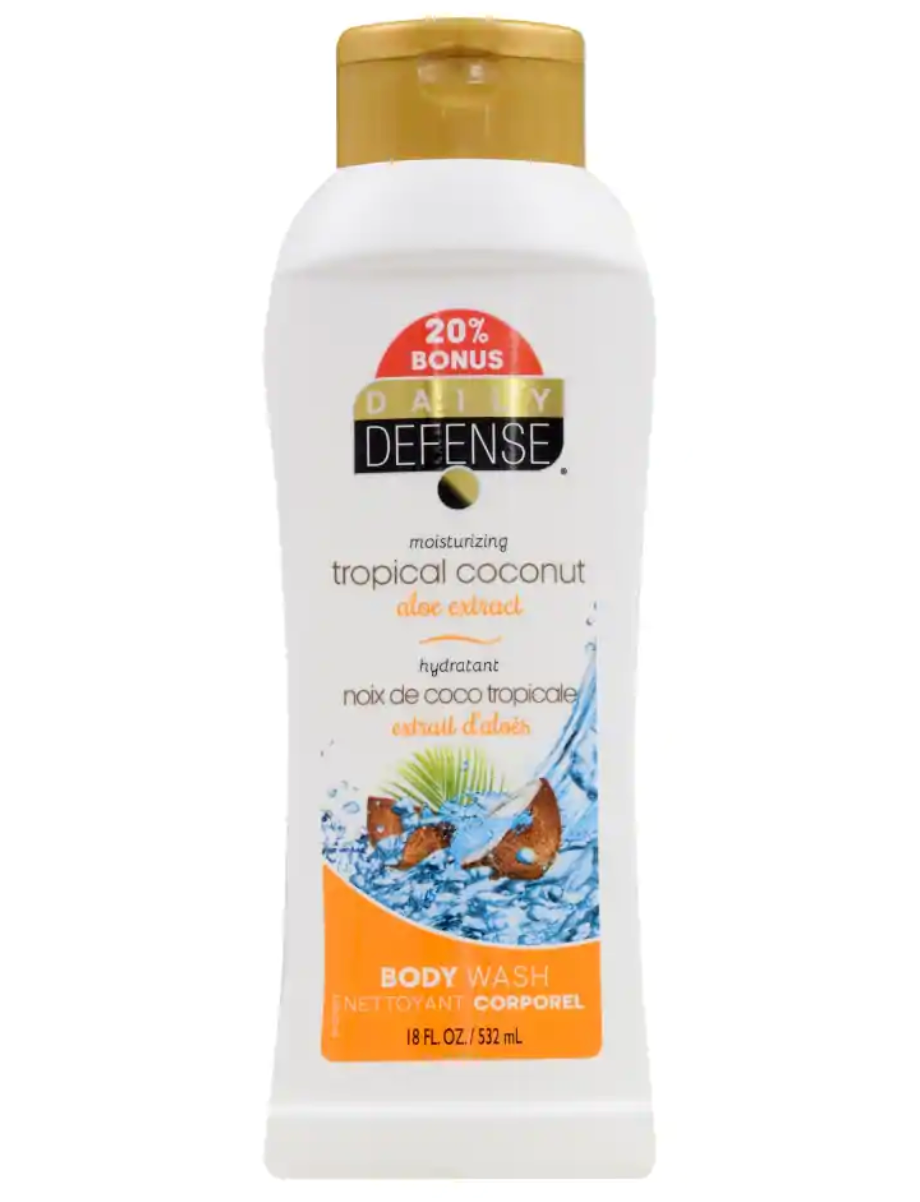 Daily Defense Moisturizing Tropical Coconut Body Wash, 18 oz. Bottles