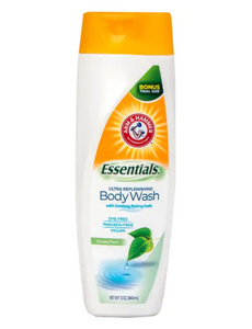 Arm & Hammer Essentials Ultra Replenishing Body Wash with a Fresh Scent, 12 oz. Bottles