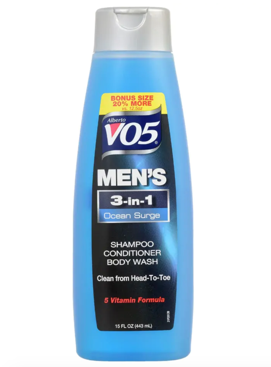 Alberto VO5 Men's 3-in-1 Ocean Surge Shampoo, Conditioner, & Body Wash