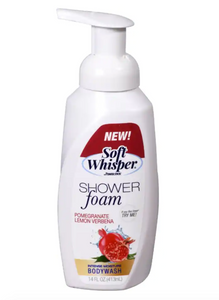 Soft Whisper Pomegranate & Lemon Scented Shower Foam, 14 oz. Bottles