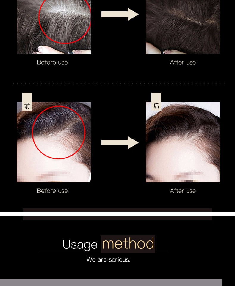 Instant Gray Hair Root Coverage