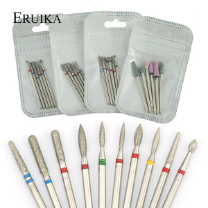 6pcs/pack Diamond Nail Milling Cutter Rotary Burr for Nail Files Cuticle Clean Drill