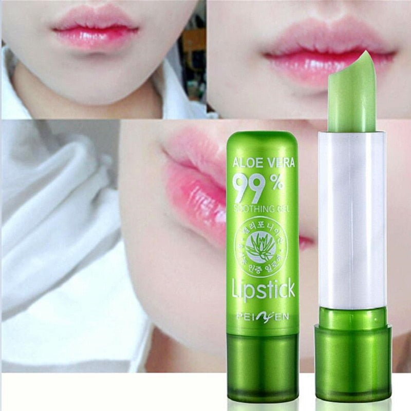 1PC Moisture Lip Balm Long-Lasting Natural Aloe Vera