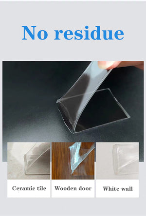 Transparent Velcro Nano Tape Washable and Reusable Double-sided Adhesive