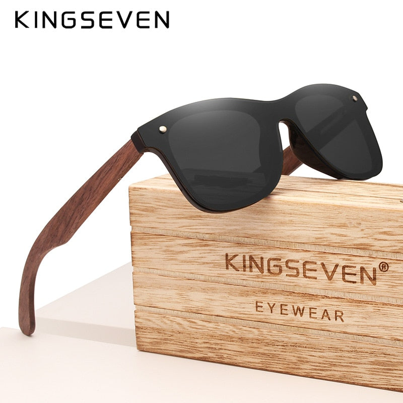 KINGSEVEN 2020 Handmade Polarized Walnut Wood Fashion Sunglasses