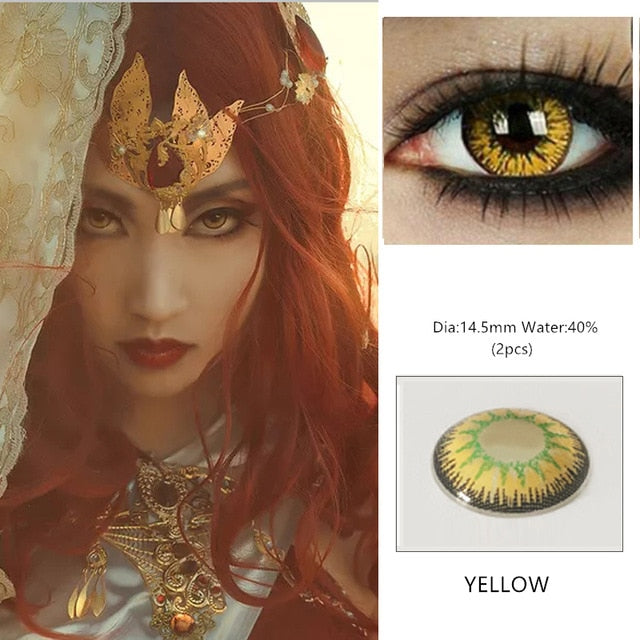 EYESHARE 1 Pair Beautiful Cosmetic Colorful Contact Lens for Eyes
