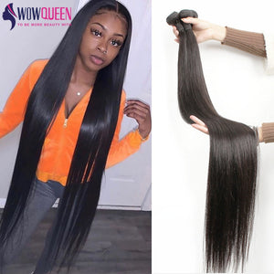 Bundles 30 32 34 36 40 Straight Human Hair Brazilian Reny Weave Extensions