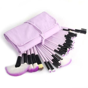 32 Pcs Makeup Brush Beauty Set Purple / United States Brushes Genzproduct