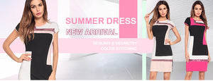 Women Sequin Patchwork Summer Dress