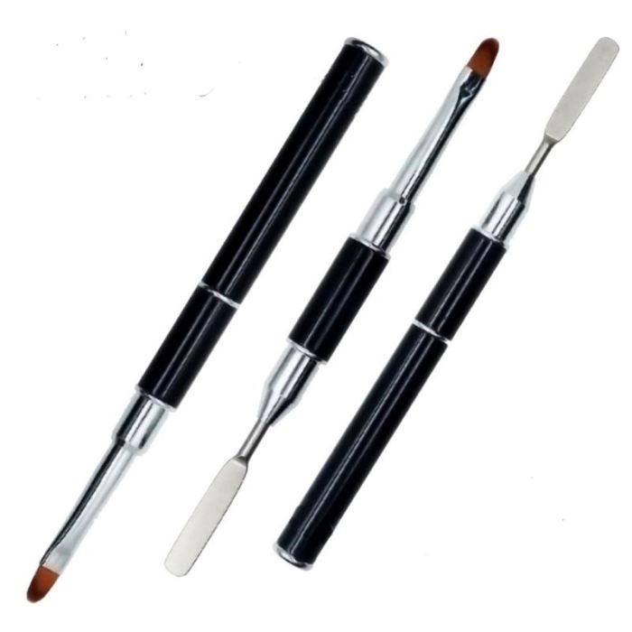 Dual-Ended Polygel Builder Brush / Flat Pusher Nail Art Pen Tool Genzproduct