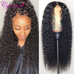 Lace Front Human Hair Remy Brazilian Kinky Curly Pre Plucked With Baby Hair Wig