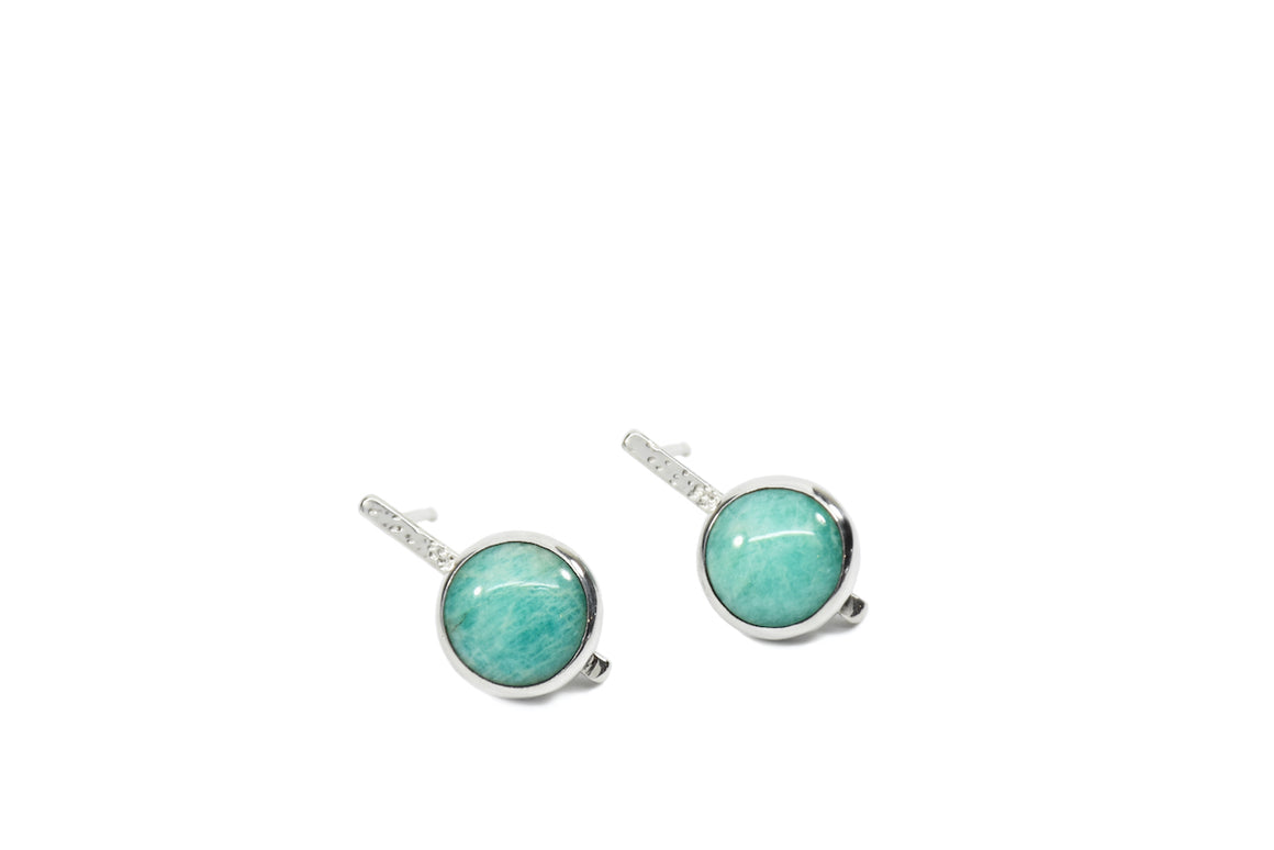 Amazonite Dotted Studs