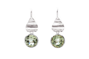 Prasiolite Flora Drop Earrings Sterling Silver
