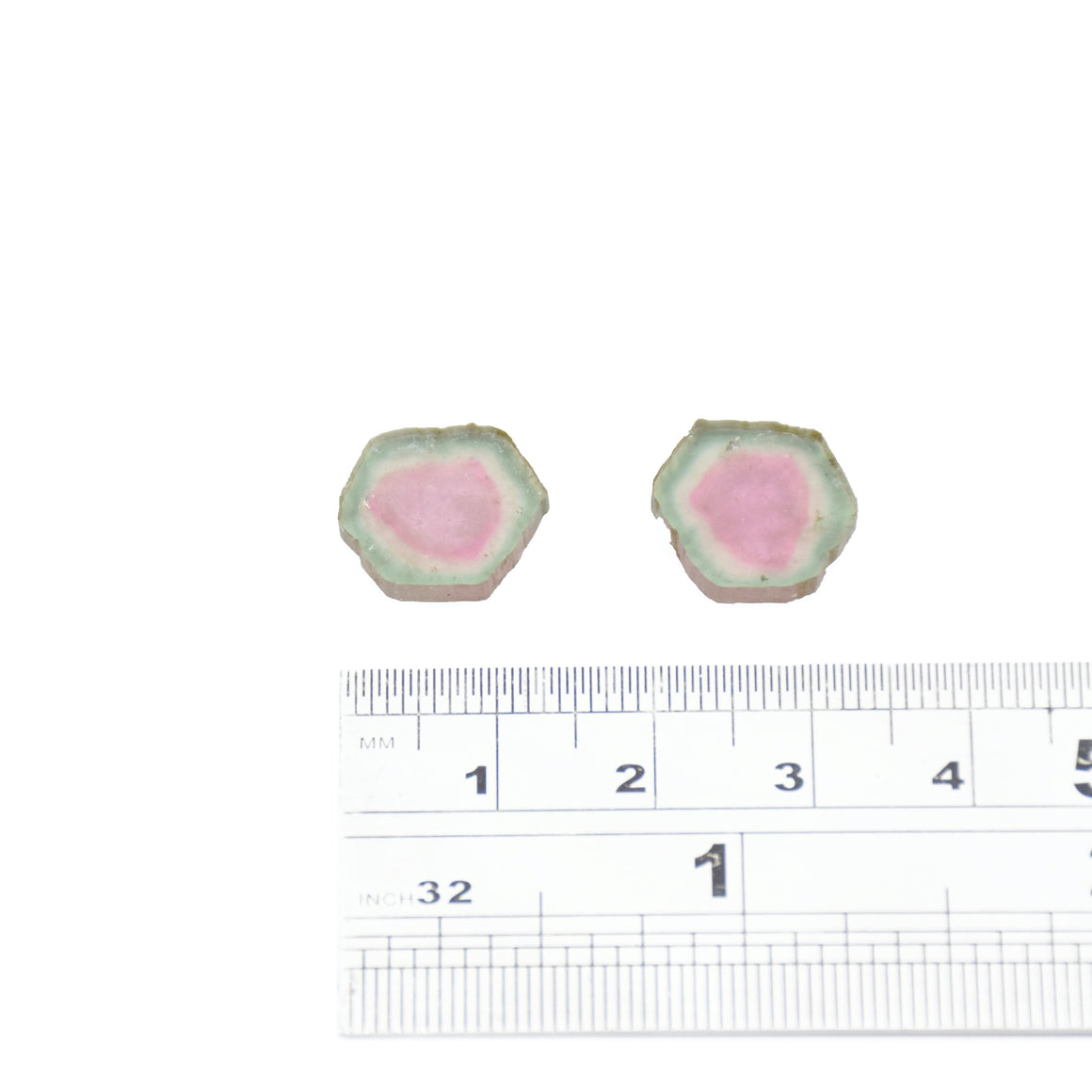 4.85ct Light green edge, light pink core