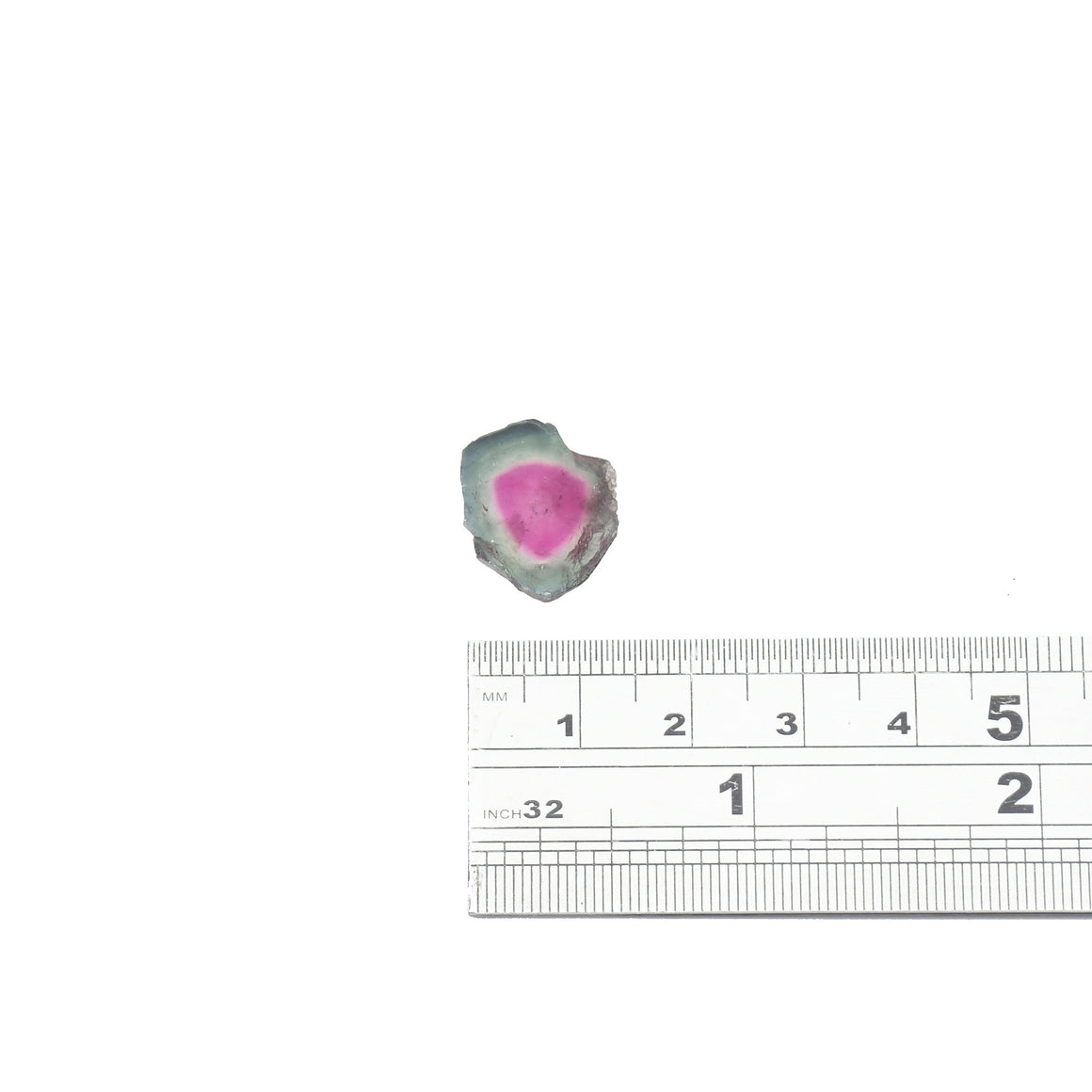 8.3ct Dark teal edge, dark pink center