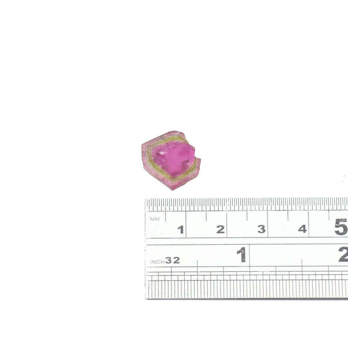 5.9ct Light green edge, dark pink center