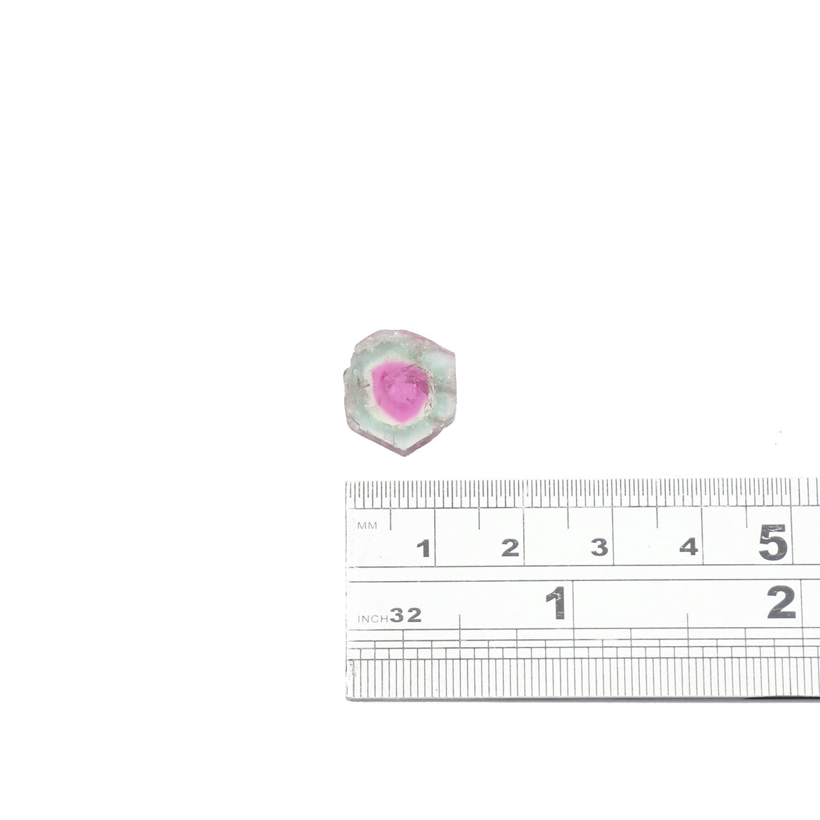 5.25ct Light blue edge, fuchsia center