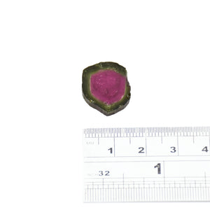 10.83ct Dark green edge, dark pink center