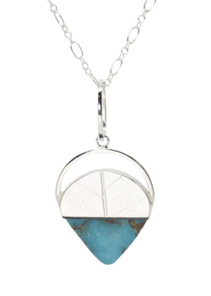 Triangle Turquoise Long Pendant