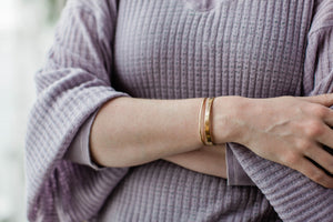 Waterway Cuff in 14k Gold