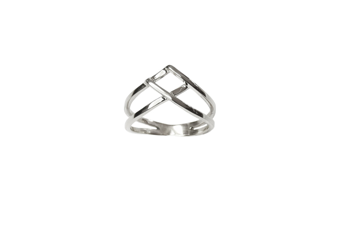 Woven Ring in Silver