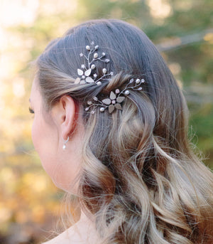 Solid Flower Hairpin (Vine Version)