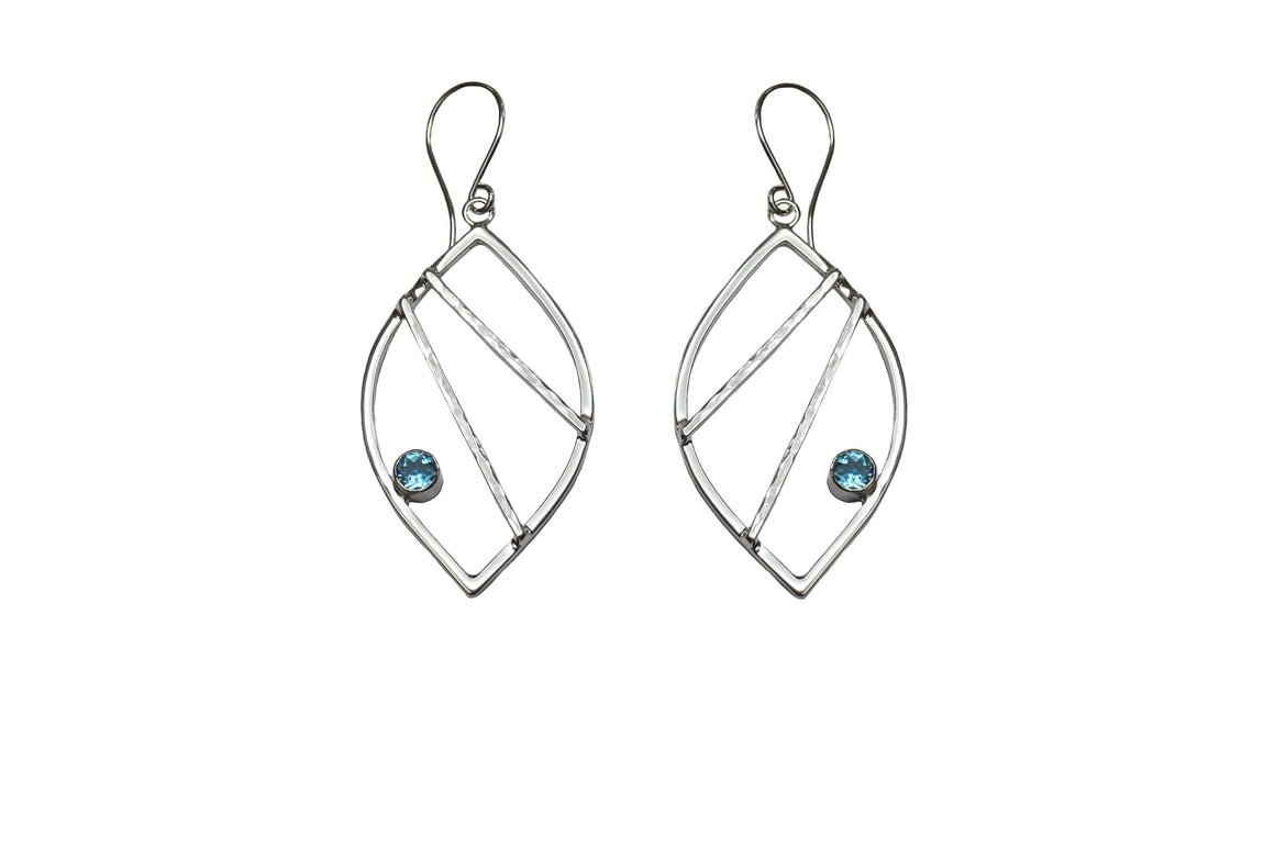 Crossbar Leaf Earrings