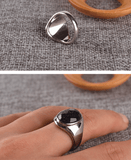 Purple Sand Gemstone Titanium Ring