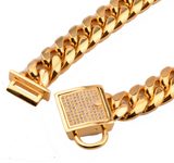 Cuban Link Dog Collar Stainless Steel