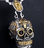 BEIER Cool Men's Gothic Carving Pendant Necklace Stainless Steel High Quality Detail Biker Skull Jewelry for man BP8-256