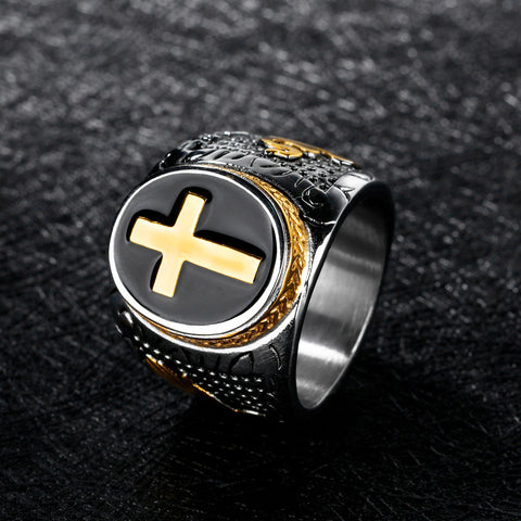Metrosexual Retro Titanium Ring Punk Domineering