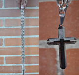 CROSS SELF-DEFENSE NECKLACE WHIP - OUR FATHER