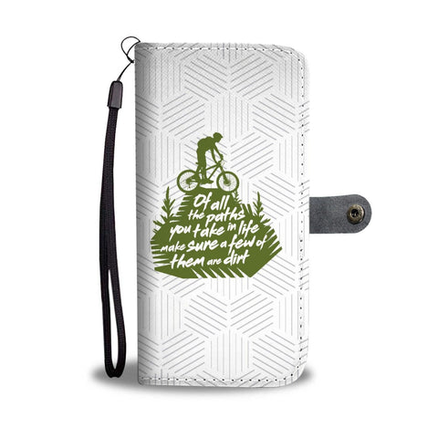 "Mountain Bike ""Take Dirt Paths"" - Wallet Case"
