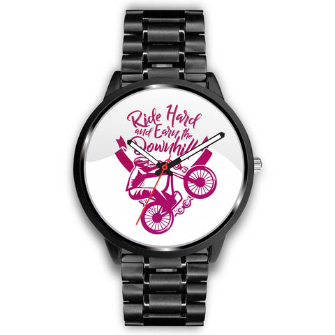"""Ride Hard and Earn the Downhill"" Watch"