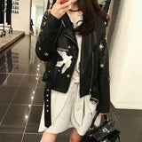 Autumn Biker Leather Jacket