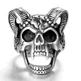 Stainless steel ring men's jewelry skull head ring