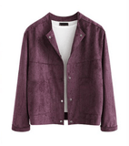 Women's Fashion Slim Suede Coat